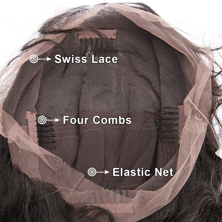 Loose Wave Full Lace Wig With Baby Hair 100% Human Hair Wigs - cexxyhair.com