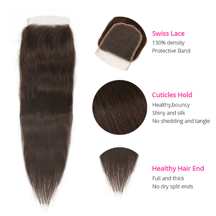 CEXXY VIRGIN HAIR #4 COLORED HAIR EXTENSION STRAIGHT BUNDLE DEAL