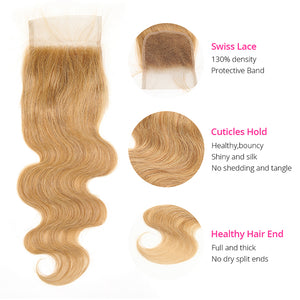 #27 Colored Body Wave Virgin Hair Extension Bundle Deal