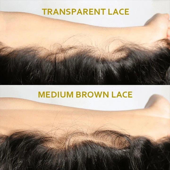Transparent Lace 6*6 Closure Wigs Body Wave Brazilian Virgin Hair 180% Density
