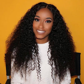 CEXXY Hair 180% Curly Bob Wig Lace wig Full Lace Wig Deep Wave - CEXXY Hair