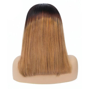 1B/30 Color Bob Wigs Straight 13*4 Lace Front Pre-plucked Hairline