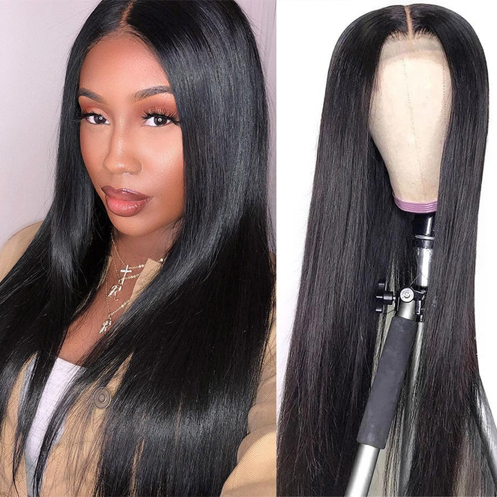 CEXXY HAIR STRAIGHT 13X6 FAKE SCALP WIG VIRGIN HAIR INVISIBLE KNOT LACE FRONT WIG