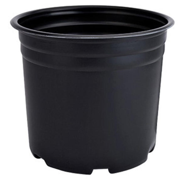 1 Gal. Black Nursery Pots (12-Pack)