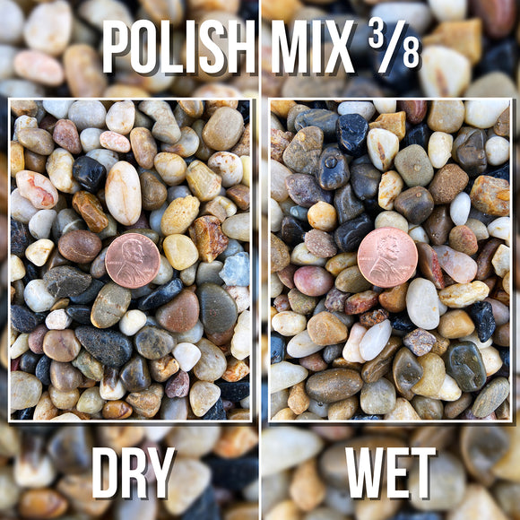 Polish Mix Pebble - 3/8