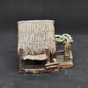 Miniature Ceramic Bamboo Farm House - C&J Gardening Center