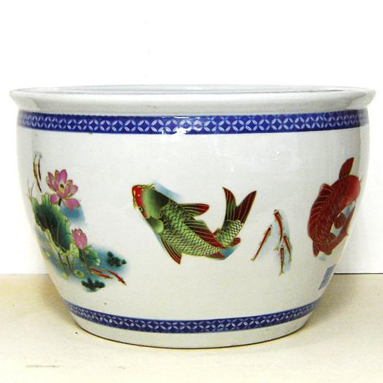 Vintage Chinoiserie Planter - C&J Gardening Center