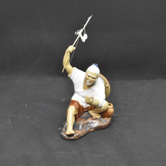 Miniature Ceramic Fisherman - C&J Gardening Center
