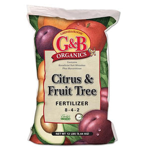 G&B Organics - Citrus & Fruit Tree Fertilizer (8-4-2) - C&J Gardening Center