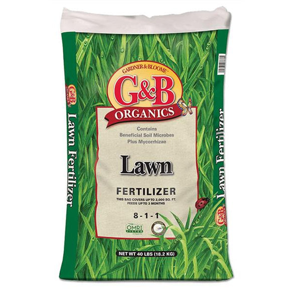 G&B Organics - Lawn Fertilizer (8-1-1) - C&J Gardening Center
