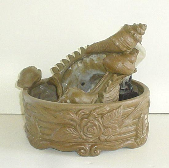 Ceramic Water Fountain with Sea Shells - C&J Gardening Center