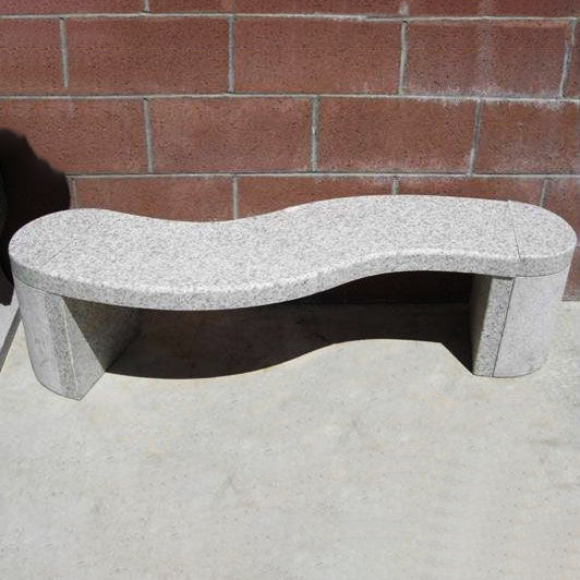 S-Shaped Granite Patio Bench - C&J Gardening Center