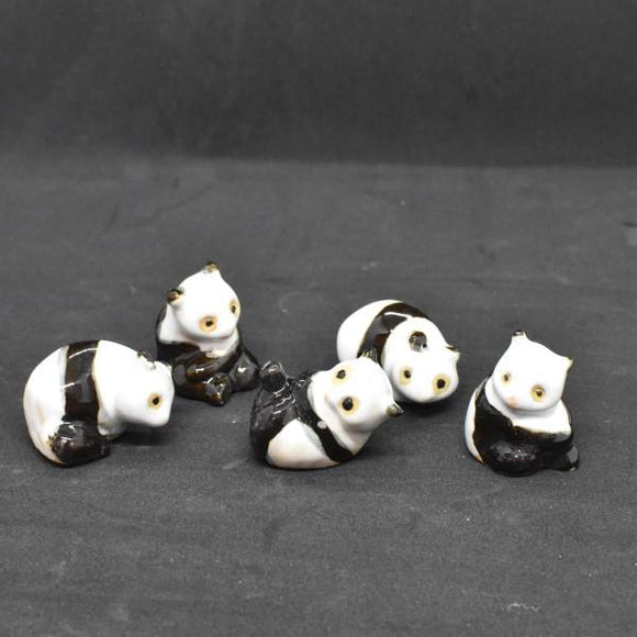 Miniature Ceramic 5 Pandas Set - C&J Gardening Center