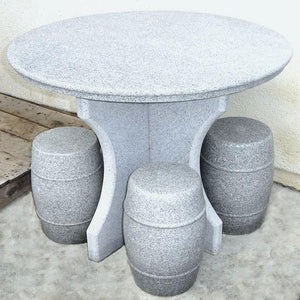 5 Pieces Granite Table & Chairs Set - C&J Gardening Center