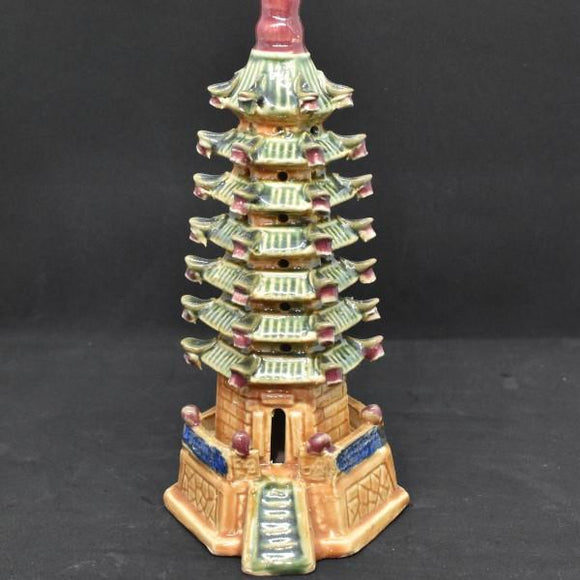 Miniature Ceramic Temple Tower Display - C&J Gardening Center