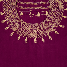 Hand embroidered Mexican purple huipil