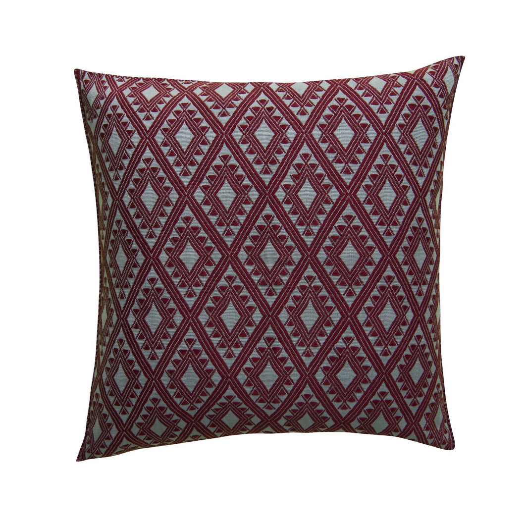 heavy embroidery shabby chic loom cotton pillow from Chiapas