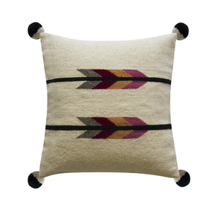 Pink Arrows wool pillow