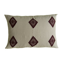 delicate cotton loom cloth with diamonds, pillow from Chiapas, Mexico