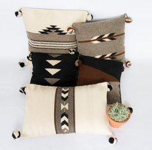 Brown collection wool pillows