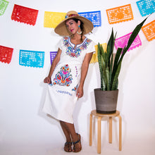 Long white Mexican Dress