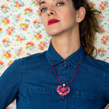 San Andres Heart Textile Necklace.