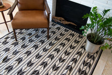 abstract design, black and white, area rug