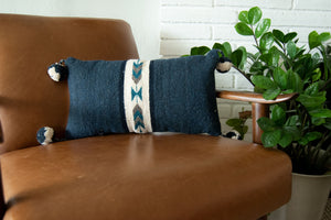 blue pillow modern style, arrows design, Navajo style pillow bohemian pillow, southwestern pillow, pretty house, modern house