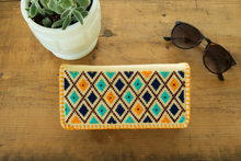 Joker pattern ethnic inspired Mexican wallet