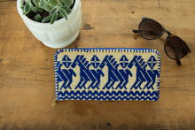 Mexican embroidery zipper casual wallet with horses