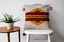 southwestern geometric figure accent wool pillow