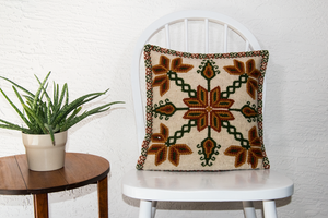 Poinsettias Pillow, Christmas pillow