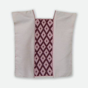 Traditional huipil from Chiapas, made on waist loom, pink