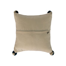 Native American white and Gray Pillow Cover, back