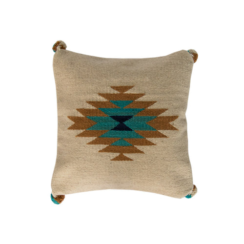 White Boho Pillow