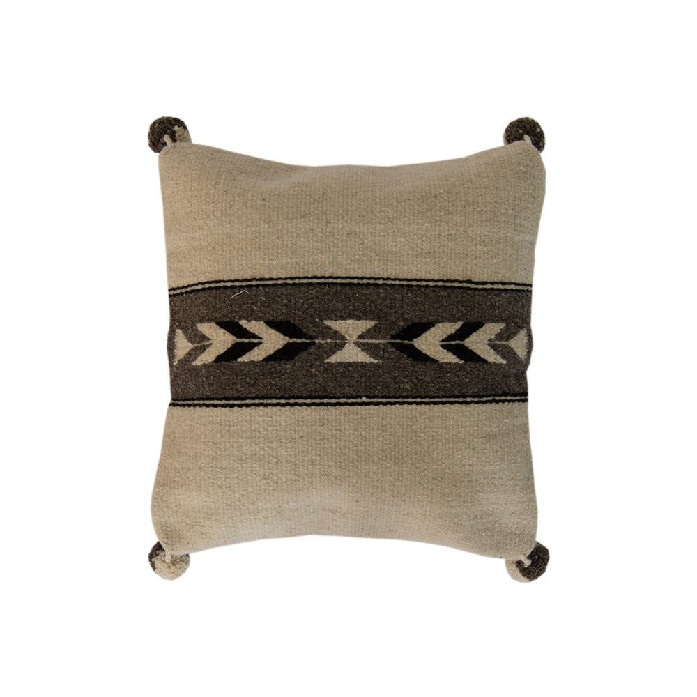 Native American white and Gray Pillow Cover,