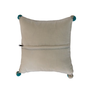 Native American Blue Arrow Pillow