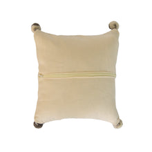 Gray Diamond Accent Pillow back