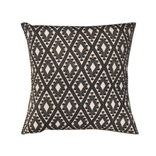 heavy embroidery black and white loom cotton pillow fro Chiapas
