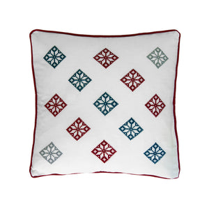 cross stitch folk diamonds pattern pillow