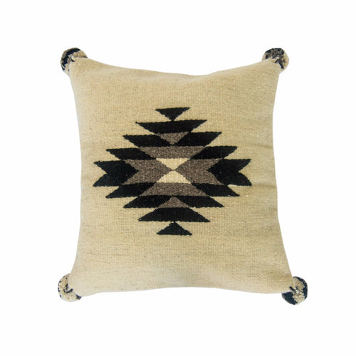 Black Diamond Wool Pillow Cover