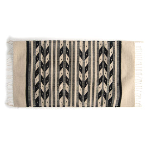Black and White arrows Aztec rug