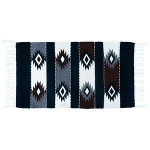 Black and White Mexican Aztec Small Rug