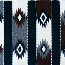Black and White Mexican Aztec Small Rug Closeup
