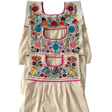 Mexican multicolor embroidered dresses