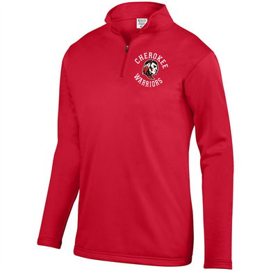 Item CHS-LAX-103 - Augusta 1/4 Zip Wicking Fleece Pullover-CHEROKEE WARRIORS Logo