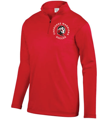 Item CHS-SOC-102-6 - Augusta 1/4 Zip Wicking Fleece Pullover-Cherokee Warrior Soccer Logo