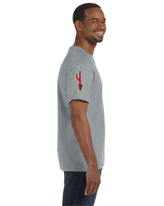 Item CHS-Wide-515-1-Athletic Heather - Gildan Adult 5.5 oz., 50/50 T-Shirt - Fear of the Spear Logo
