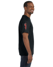 Load image into Gallery viewer, Item CHS-TRK-522-1 - Jerzees 5.6 oz. DRI-POWER Short Sleeve T-Shirt - Fear of the Spear Logo