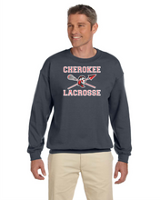 Load image into Gallery viewer, Item CHS-LAX-202 - Gildan Crew Neck Sweatshirt-UNISEX- Cherokee Warrior Lacrosse Logo